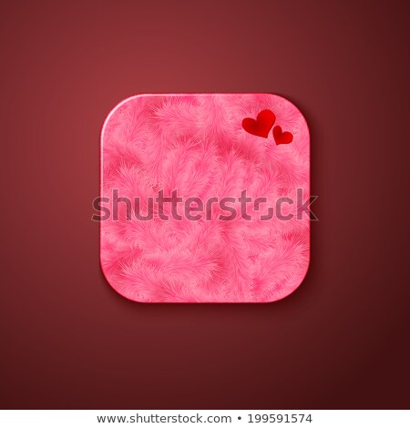 пушистый текстуры икона стилизованный подобно мобильных Сток-фото © alevtina