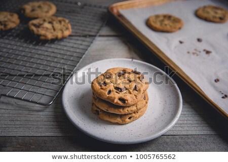 Koeling drie cookies chips walnoot kruimels Stockfoto © PixelsAway