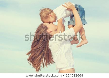 anne · bebek · oynama · plaj · plaj · kumu · aile - stok fotoğraf © mikko