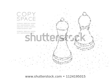 Stock photo:  Diamond chess Bishop, vector illustration
