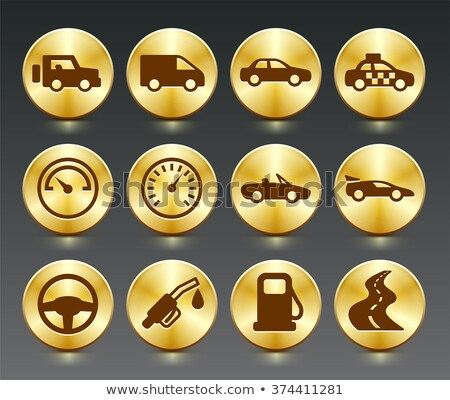 wheel golden vector icon button stock photo © rizwanali3d