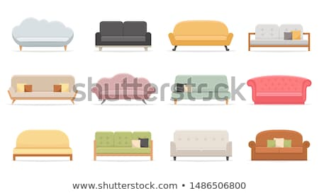 différent · maison · groupe · meubles · canapé - photo stock © laschi