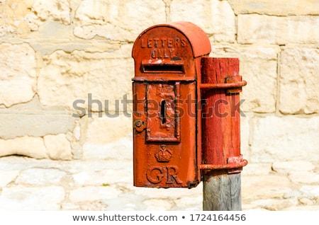 Stok fotoğraf: Bağbozumu · posta · kutusu · yalıtılmış · beyaz · iş · haber