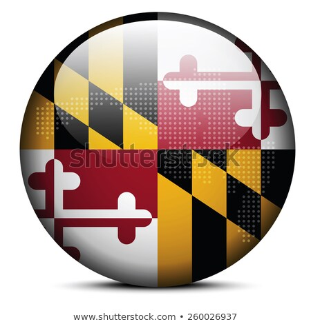 Map with Dot Pattern on flag button of USA Maryland State Stock photo © Istanbul2009