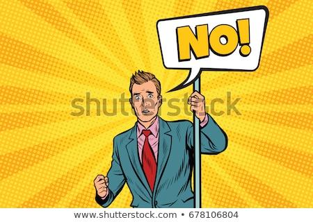Képregény rajz férfi semmi gond retro képregény Stock fotó © lineartestpilot