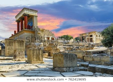 palota · észak · bejárat · ősi · oszlop · Görögország - stock fotó © neirfy