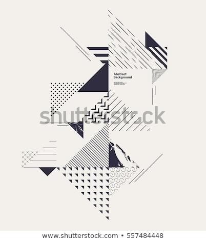 Vettore abstract triangolo contorno sketch banner Foto d'archivio © m_pavlov