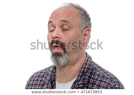 Középkorú férfi kecskeszakáll szakáll néz kamera Stock fotó © ozgur