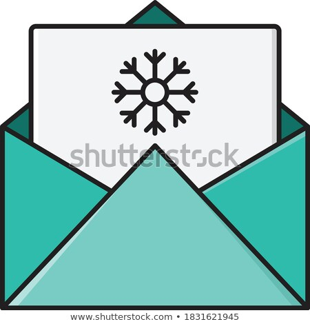 Blank Envelope Red Lining Invitation Letter Opening Message Stock photo © iqoncept