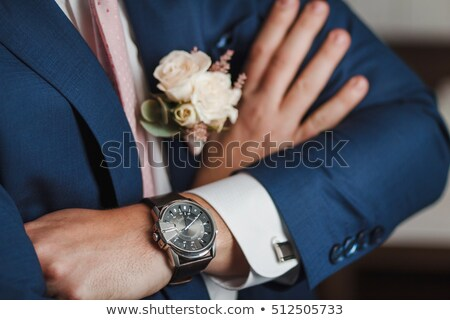 Sposo braccia incrociate primo piano uomo giardino maschio Foto d'archivio © wavebreak_media