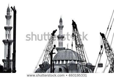 inşaat · cami · şehir · Asya · inşa · etmek · İslamiyet - stok fotoğraf © ivz