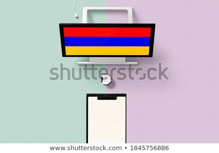 таблетка Армения флаг изображение оказанный Сток-фото © tang90246