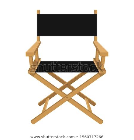Houten directeur stoel business hout film Stockfoto © Viva