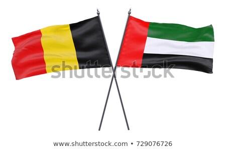 Birleşik Arap Emirlikleri Belçika bayraklar bilmece yalıtılmış beyaz Stok fotoğraf © Istanbul2009