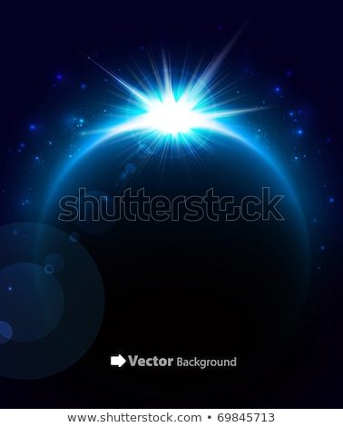 Rising Sun over the planet. Vector space background Stock photo © netkov1
