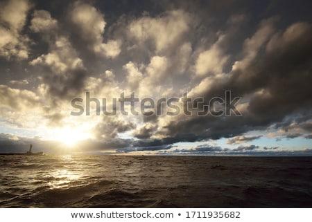 Hızlandırmak tekne yelkencilik derin deniz beyaz Stok fotoğraf © epstock