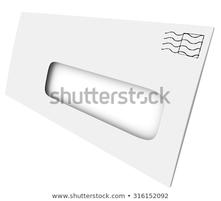white mailing envelope blank opening window your copy message stock photo © iqoncept