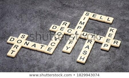 bilmece · kelime · geri · dönüşüm · puzzle · parçaları · el · inşaat - stok fotoğraf © fuzzbones0