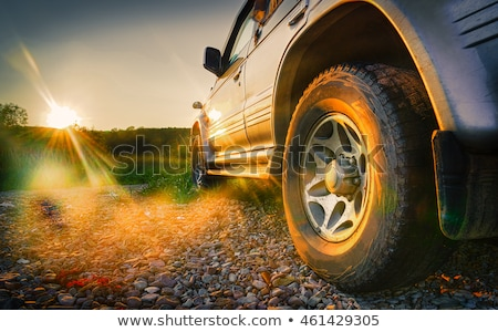 Auto 4x4 collectie schaal model licht Stockfoto © nemalo