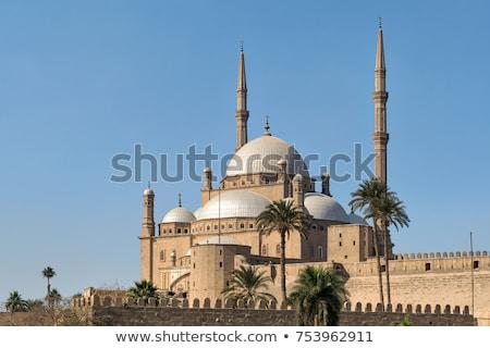kastély · Kairó · Egyiptom · zászló · kő · istentisztelet - stock fotó © giko