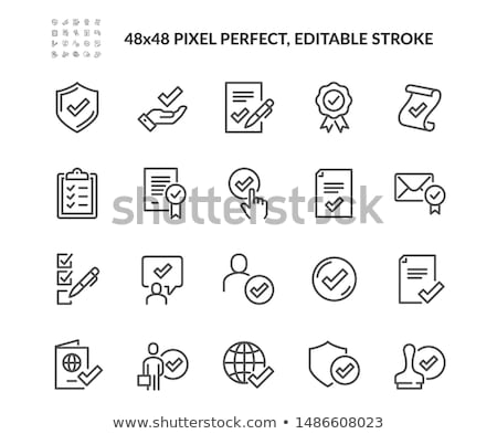certificado · sello · icono · signo · sello · segura - foto stock © kiddaikiddee
