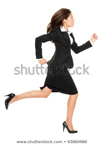 running business woman stock photo © kurhan