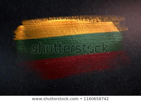 Litouwen land vlag kaart vorm tekst Stockfoto © tony4urban
