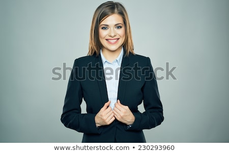káprázatos · divatos · fiatal · barna · hajú · nő · fekete · ruha - stock fotó © lithian