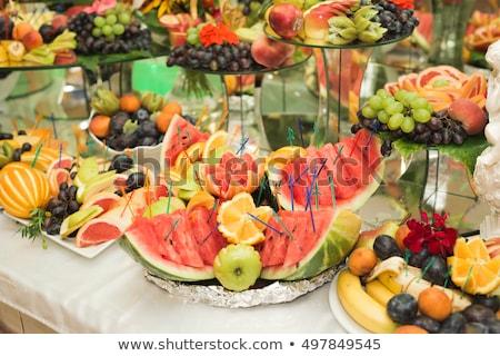catering · casamento · aquecedor · bufê · linha · comida - foto stock © ddvs71