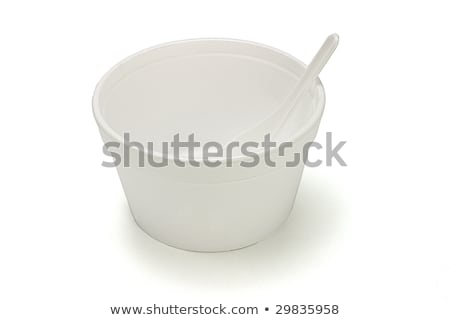 Styrofoam bowl and plastic spoon Stock photo © dezign56