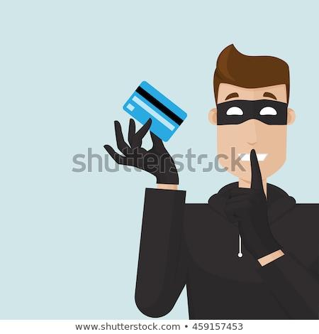 Adam hırsız kredi kartı örnek çalışma Stok fotoğraf © lenm