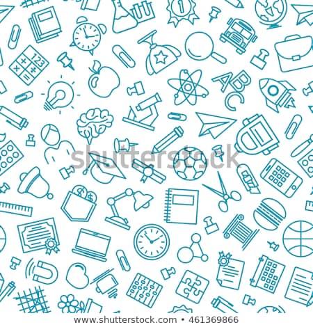 Garabato patrón aprendizaje eps 10 mano Foto stock © netkov1