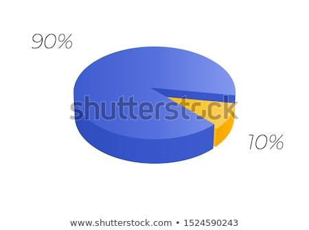 Kolor pie schemat 3D graficzne Zdjęcia stock © ijalin