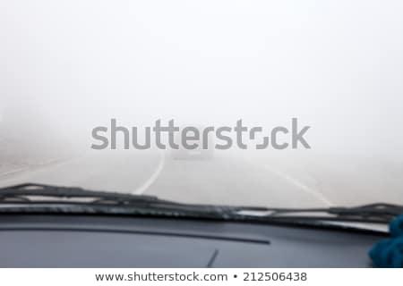 Otoyol sis gün ışık yol Stok fotoğraf © chris2766