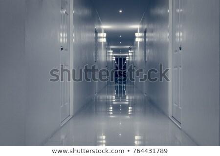 Pusty korytarz korytarzu pokój drzwi halloween Zdjęcia stock © FrameAngel
