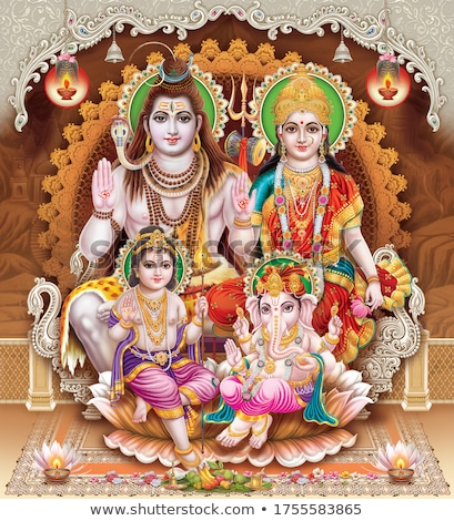 Shiva indian boga ilustracja kultu moc Zdjęcia stock © vectomart