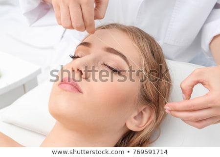 かなり · 顔 · 肖像 · ブルネット · 女性 · 眼 - ストックフォト © wavebreak_media