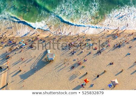 Praia Los Angeles oceano azul Foto stock © meinzahn