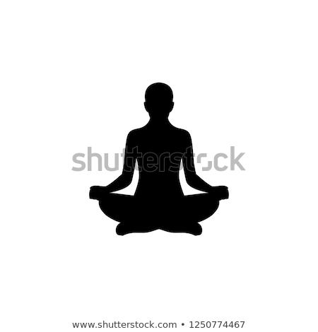 Meditation silhouette of a person  Stock photo © shawlinmohd