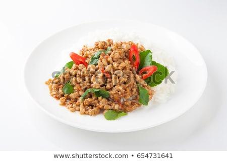 Stir-fried minced meat Stock photo © Digifoodstock