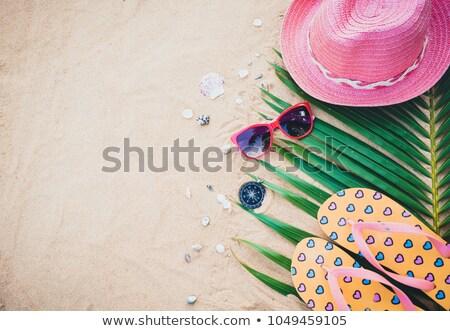 topo · ver · vintage · bússola · areia · da · praia · mar - foto stock © stevanovicigor
