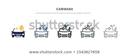 автомойку · желтый · губки · синий · автомобилей · мыло - Сток-фото © vwalakte