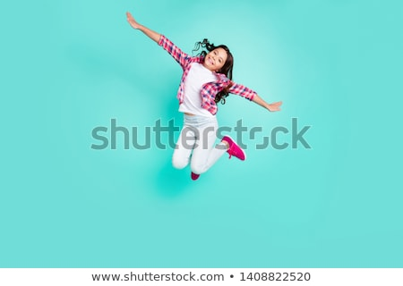 fashion style photo of a young girl stock photo © konradbak