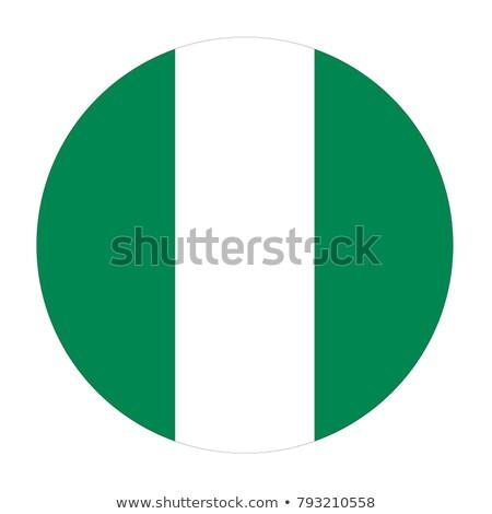 Nigeria flag button Stock photo © ojal