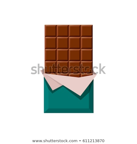 chocolate bar food and objects flat icons vector illustration Stock photo © konturvid