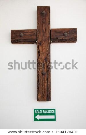 Richting borden houten muur twijfelen hoop Stockfoto © Zerbor