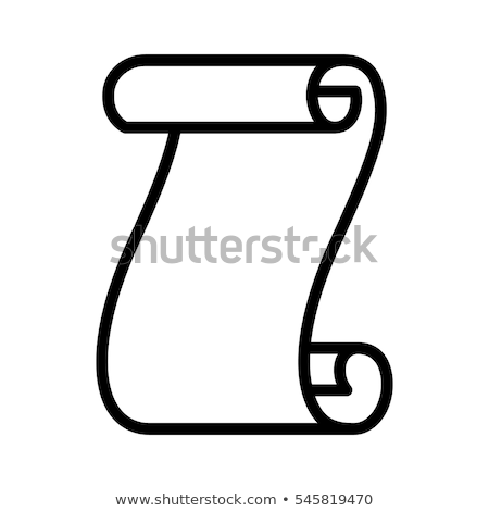 Canvas scroll icon Stock photo © angelp