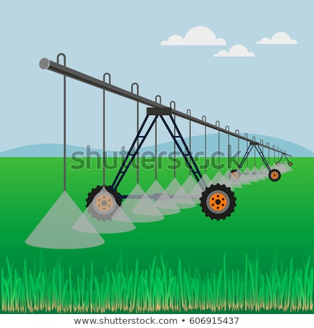Center pivot irrigation system with drop sprinklers in field Stock photo © stevanovicigor