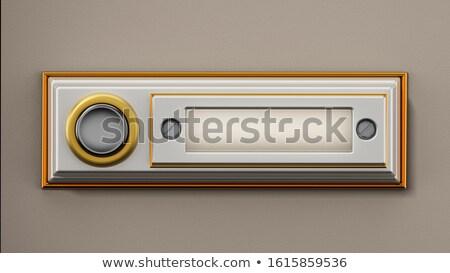 doorbell buttons name plates Stock photo © sirylok