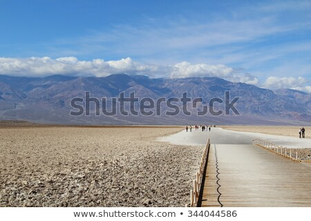 Badwater, deepest point in the USA in death valley Stock photo © meinzahn